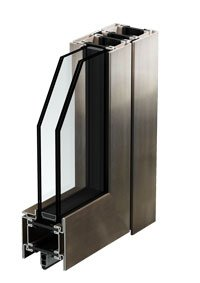 armored windows with stainless steel profiles