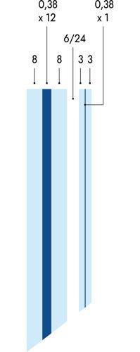 Ventanas blindadas de seguridad Ercole con vidrio F5