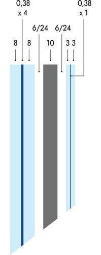 Ventanas blindadas de seguridad Ercole con vidrio F50