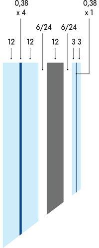 Ventanas blindadas de seguridad Ercole con vidrio F60